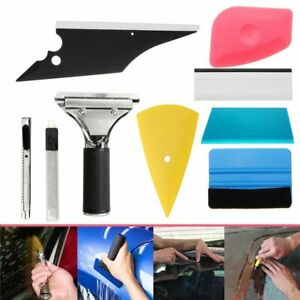 Professional 8pcs Car Window Film Tint Vinyl Wrap Tools Kit Squeegee Scraper Set