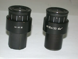 Zeiss Focusable Eyepieces For Axioline axioplan 30mm Thread 444032 one Has Grid
