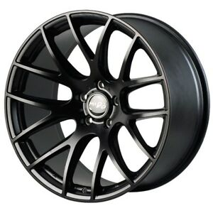 Miro 111 20x8 5 32 20x9 5 40 5x120 Matte Black Concave Staggered set Of 4