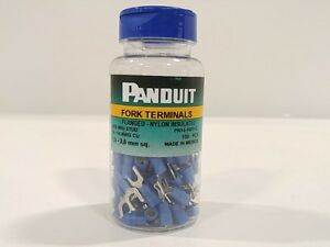 Panduit Pn14 10ff c Flanged Fork Terminal Nylon Insulated 18 14 Awg 10 Stu
