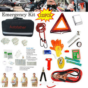 Portable 123 Pc First Aid Kit Emergency Bag Home Car Outdoor Safety Tool Kit