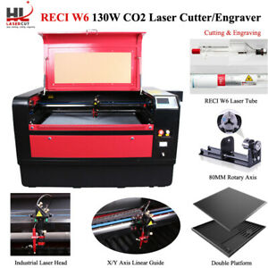 130w Laser Cutter Engraving Machine Cw5200 Chiller Motorize Up And Down Table