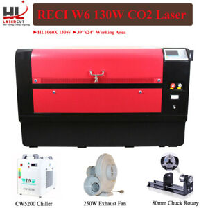 130w 1060 Co2 Laser Cutter Engraver Cw5200 Chiller Motorize Up And Down Table