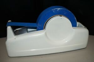 Vintage Heavy Duty White Tape Dispenser 1 Width 3 Core