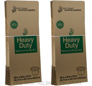 Moving Boxes Heavy Duty Boxes Large Cardboard Pack Of 6
