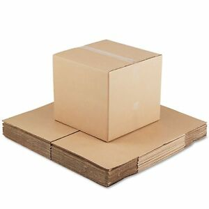 Heavy Duty Corrugated Cubed Fixeddepth Shipping Mailing Carton Boxes Choose Size