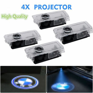 4 Car Door Courtesy Led Projector Ghost Shadow Light For Bmw Logo Welcome Lights