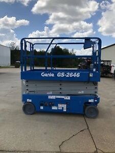 2014 Genie Gs2646 Electric Scissor Lift Jlg Boom Skyjack