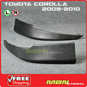 For 09 10 Toyota Corolla S Style Front L r Lower Chin Lip Spoiler Body Kit Black