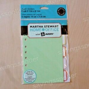 Martha Stewart Home Office With Avery Paper Dividers 5 tab 5 1 2 X 8 1 2