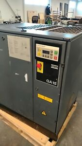 Atlas Copco Ga15 20hp Air Compressor Full System Rebuilt