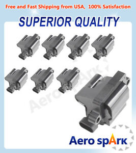 Pack Of 8 Square Ignition Coils For Chevy Gmc Cadillac 5 3l 6 0l 8 1l 4 8l Uf271