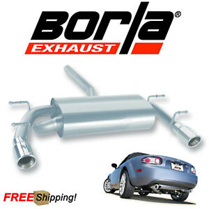 Borla S type Cat back Performance Exhaust Kit For 06 15 Mazda Miata Mx 5 2 0l