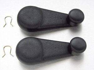 2 New Manual Window Crank Handles Black Textured For 2004 2012 Colorado Canyon