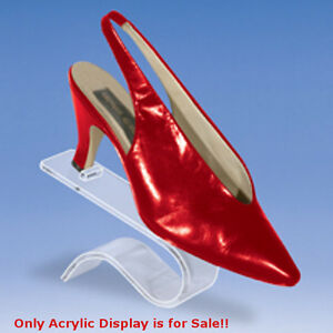 Retails Contoured Acrylic Shoe Display 4 1 2 In W X 4 In H