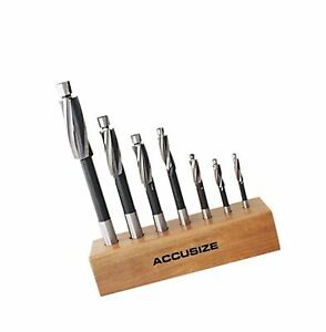 Accusizetools H s s Solid Cap Screw Counterbore Set 3 Flute Straight Shank