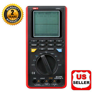Uni t Ut81c Scopemeter 16mhz 80ms s And Digital Multimeter Auto Ranging Dmm