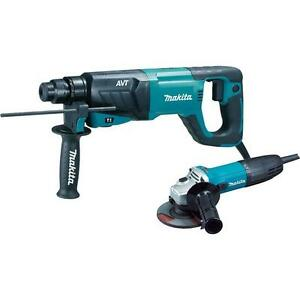 Makita 8 Amp 1 In Avt Sds plus Rotary Hammer Drill With 4 1 2 In Angle Grinder