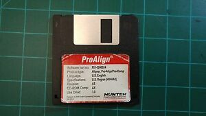 Hunter Alignment Machine Software Floppy Disk proalign