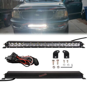 Fit Ford F150 Chevy Gmc Hidden Bumper Single Row 20 in 100w Cree Led Light Bar