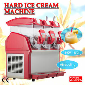 3 X 15l Slushy Machine Slush Making Machine Frozen Drink Machine 600w 45l