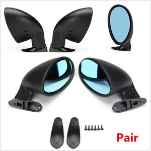 Pair Of Universal Car Door Wing Side Mirror 2x Gaskets L R For Safety Parking
