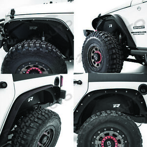 Rock Crawler Black Front Rear Inner Fender Liner For 07 18 Jeep Wrangler Jk