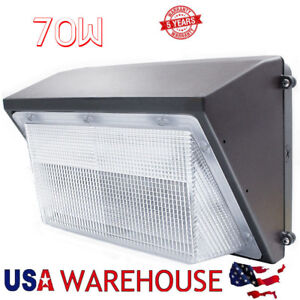 70w Led Wall Pack Light Outdoor etl List 8500lm And 5500k Super Bright White