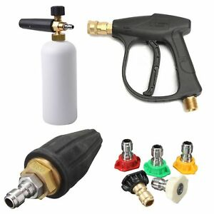 M22 Pressure Spray Gun 1 4 Nozzle Tips Snow Foam Lance Turbo Nozzle 035