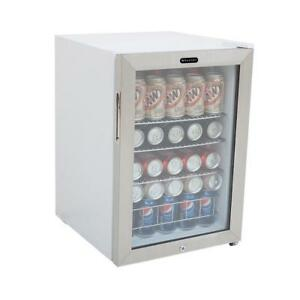 New Beery Soda Cooler W Lock Beverage Cooler Glass Refrigerator Door Display