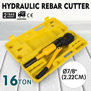 Handheld Hydraulic Rebar Cutter Concrete Construction Tool 7 8 16 Ton G 22