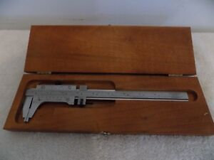 Starrett 123 Vernier Inside Outside Caliper Excellent Condition 8 1 2 In