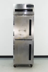 Used Delfield 6025xl sh 2 half Door Top Mount Reach in Refrigerator