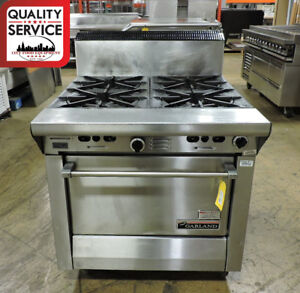 Garland M44r Commercial Heavy duty 4 burner Gas Range W Standard Oven