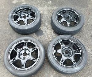 Acura Integra15 4x100 Gsr Snowflake Wheels Rims Crx Civic Del Sol Fit Insight