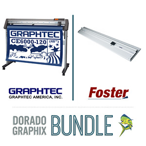 Plotter Cutter Trimmer Bundle Graphtec Ce6000 120 48 Sabre 60 New In Box