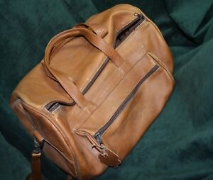 Vintage Brown Leather Doctor Medical Bag Satchel Baptist Okc
