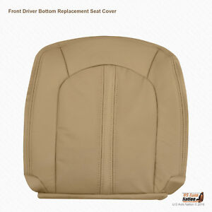 2008 2013 Cadillac Cts Front Driver Bottom Perforated Leather Seat Cover Tan