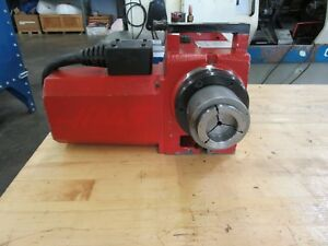 Haas Ha5c Programmable Rotary Table With 5c Air Collet Closer Brush Type Drive