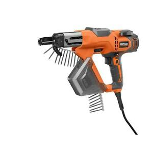 3 In Drywall And Deck Collated Screwdriver Corded Screw Gun Ridgid R6791