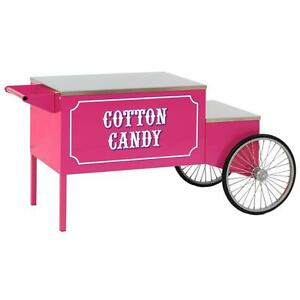 Paragon Pink Cotton Candy Wheeled Cart Commercial Concession Stand Vending