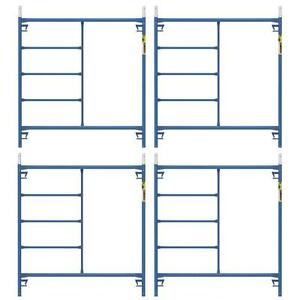 Blue Anti Slip Weather Resistant 4 pack 5 Ft X 5 Ft X Mason Scaffold Frame Kit