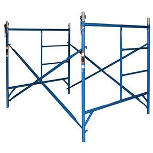 Blue Steel 5 Ft X 5 Ft Standard Exterior Scaffolding Foldable Frame Set Kit