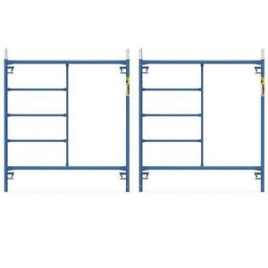 Blue Powder Coated Steel 2 pack 5 Ft X 5 Ft Mason Scaffolding Frame Kit