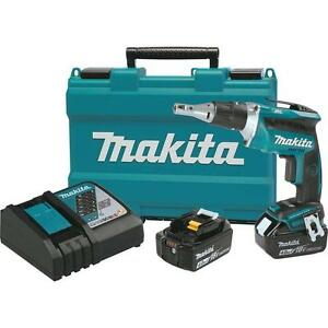 18v Cordless Drywall Screw Gun Battery Powered Screwdriver Kit Makita