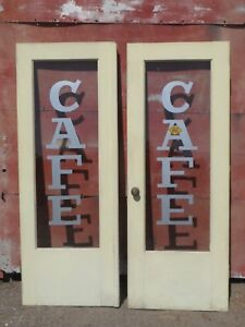 Vintage Cafe Painted French Doors Glass Susanville Reno Redding Chico Ca