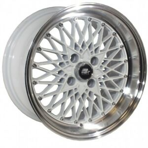 Mst Mt16 15x8 20 4x100 White W Machined Lip set Of 4
