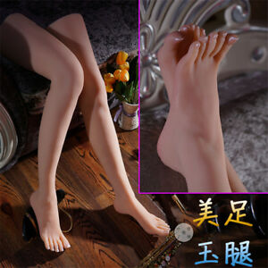 Life like Silicone Female Mannequin Sexy Long Leg Foot Model Shoes Display New