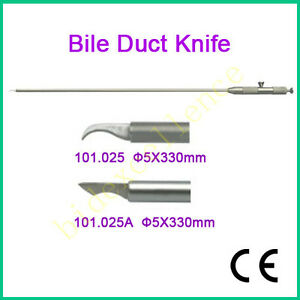Ce Medical Bile Duct Knife 5x330mm Laparoscopy Laparoscopic Autoclavable A