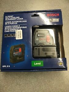 Bosch Professional Gpl 5s 5 point Self leveling Alignment Laser New In Package